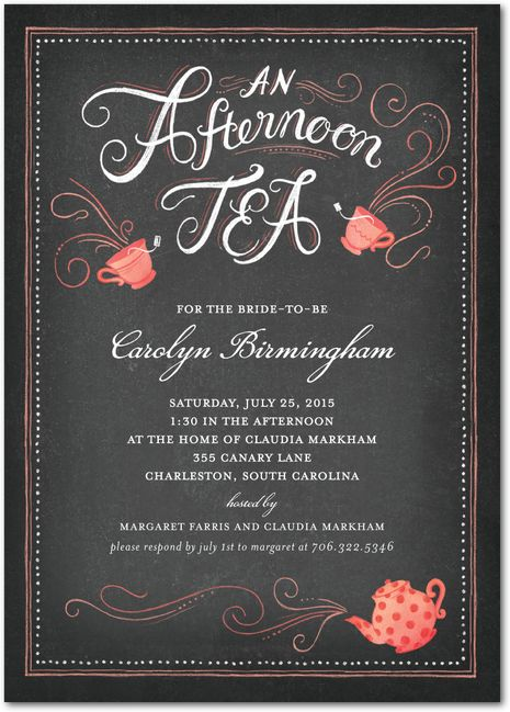 12 Best Images About High Tea Invitation On Pinterest