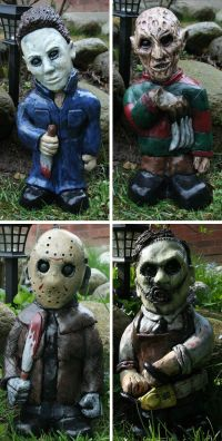 People think that garden gnomes are scary well here you go ...