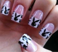 Playboy bunny nails | NAILS | Pinterest | Bunnies, Bunny ...