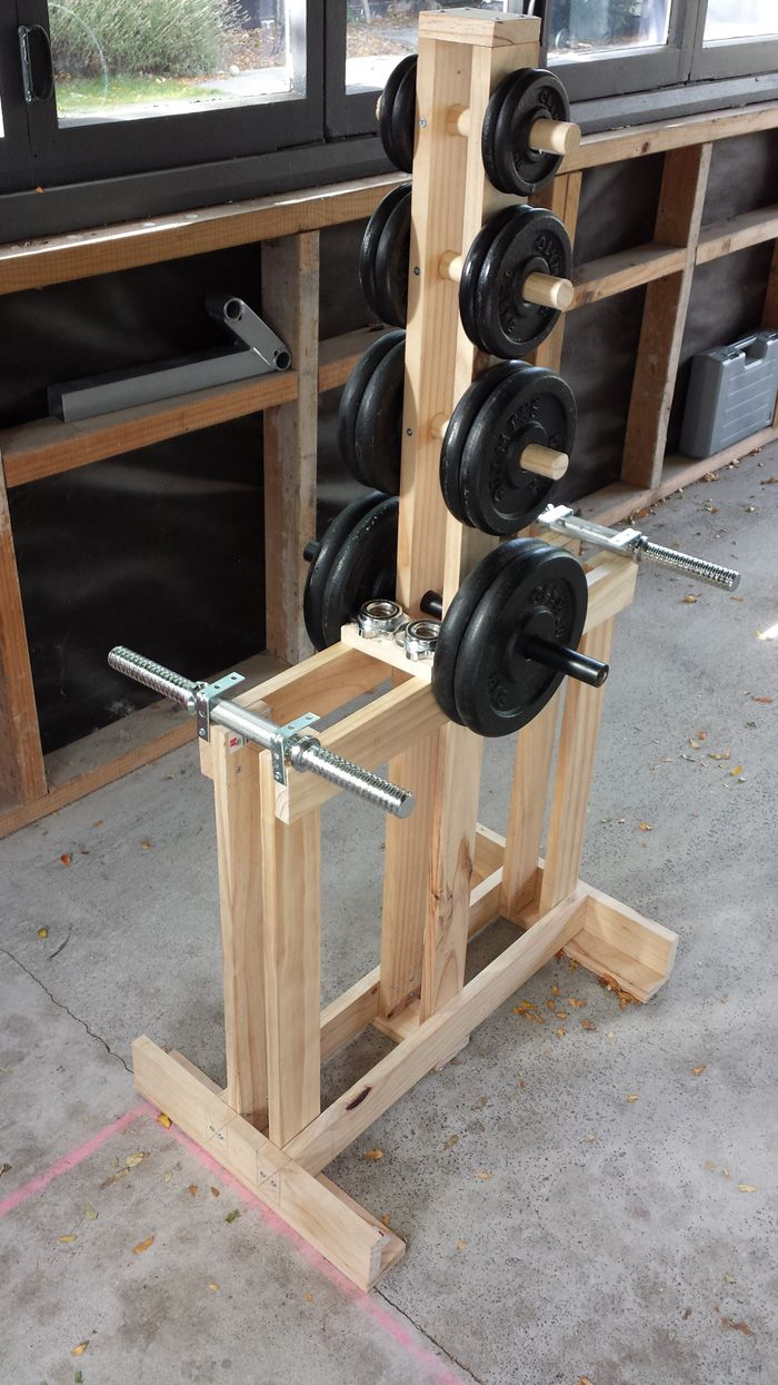 Wooden Dumbbell Rack Wood Dumbbell Tree Stand Home Gym