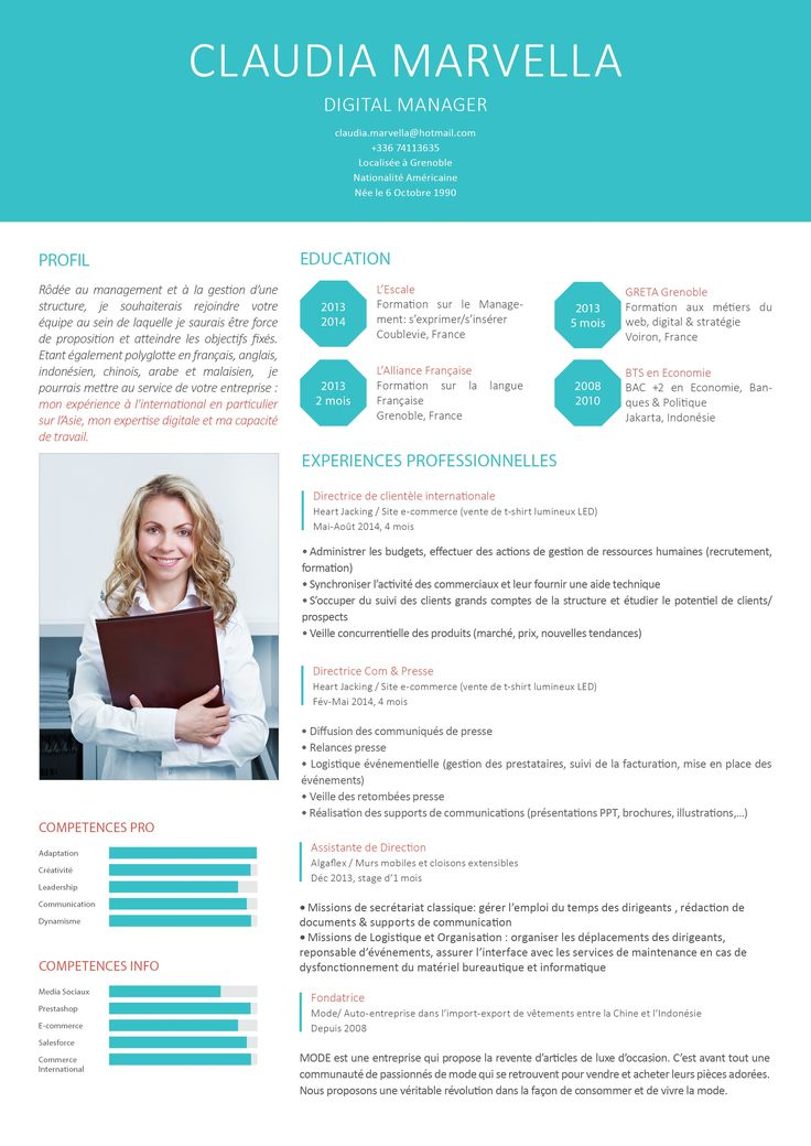 cv exemple de sections