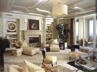 1940S INSPIRED LIVING WITH COFFERED CEILINGS. love built