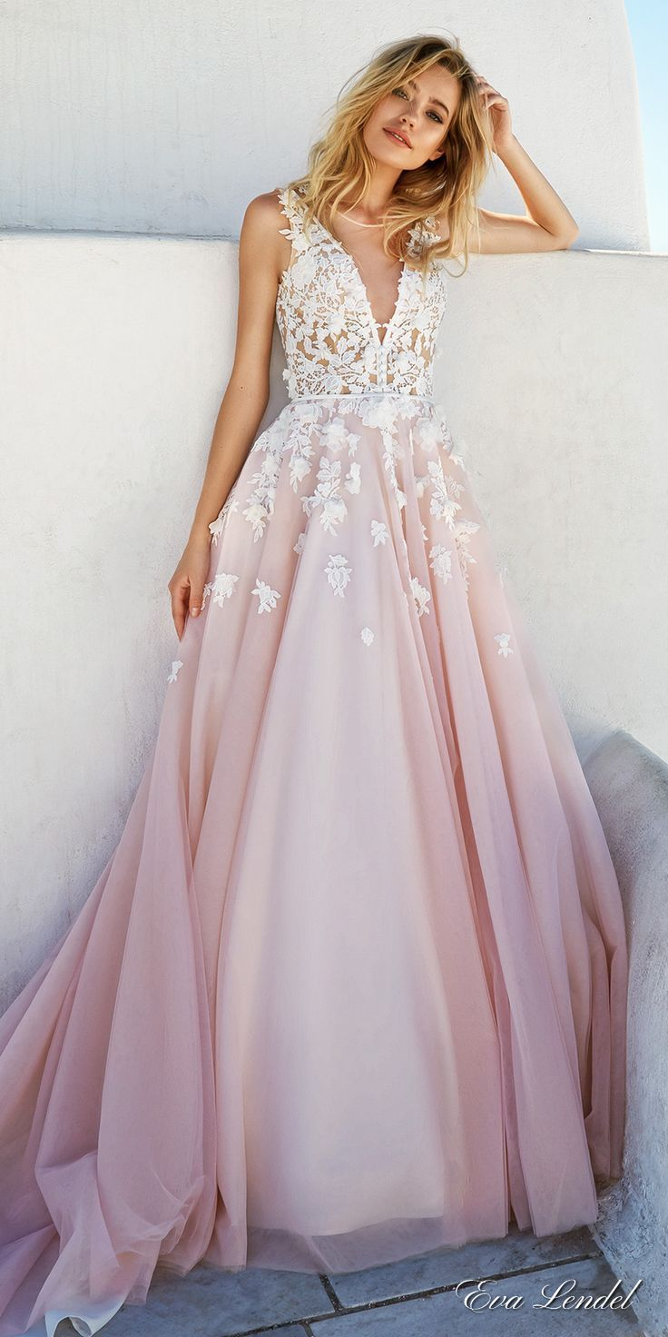 colored wedding dresses wedding dresses in color Are you into blush wedding dresses
