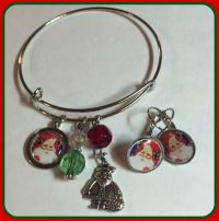 Santa Claus Alex and Ani inspired Charm Bracelet and ...