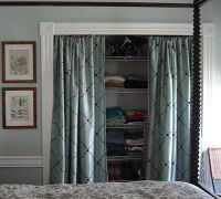 25+ best ideas about Closet door curtains on Pinterest