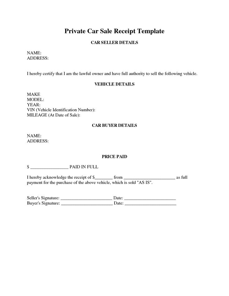 Car Sales Contract Template – Auto Sales Contract Template
