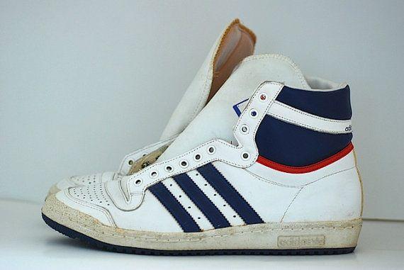 Vintage Hi Top Adidas Basketball Top Ten By Thenewtonlabel