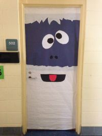 Office Door: Snowman Office Door Decoration