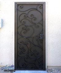 Scrolled Wrought Iron Security Screen Door | Wrought Iron ...