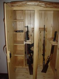 Custom Wood Gun Cabinets - WoodWorking Projects & Plans