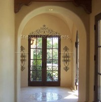"""48"""" Tuscan WROUGHT IRON Scroll WALL GRILLE Door Topper ..."""