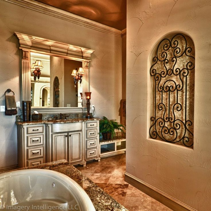 Black And White Wallpaper Bedroom Ideas Love The Iron And Tiles Niche Tuscan Old World French