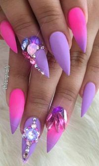 Best 20+ Purple stiletto nails ideas on Pinterest