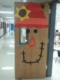 Thanksgiving Scarecrow door | Classroom door we have done ...