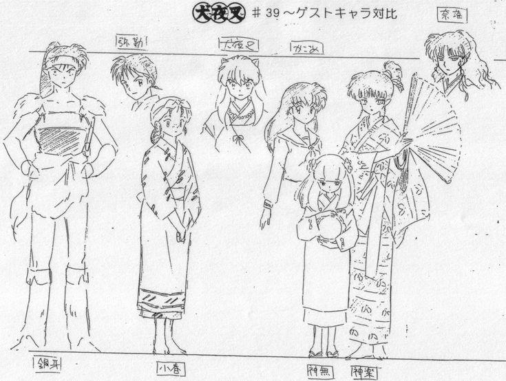 inuyasha inuyasha anime settei height reference 1