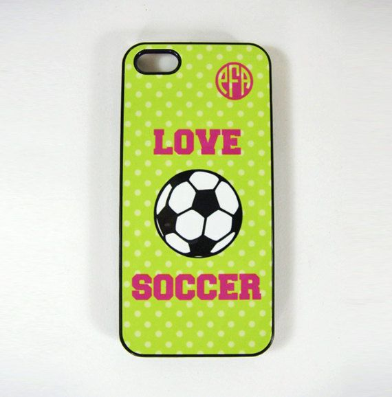 items similar to iphone 4 4s or 5 cell phone case i love soccer design personalized with a