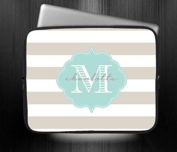 monogrammed macbook air case