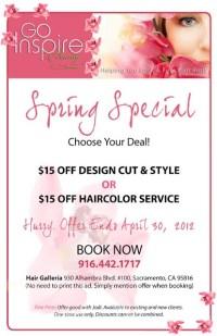 Spring Salon Special   Salon promotion ideas   Pinterest