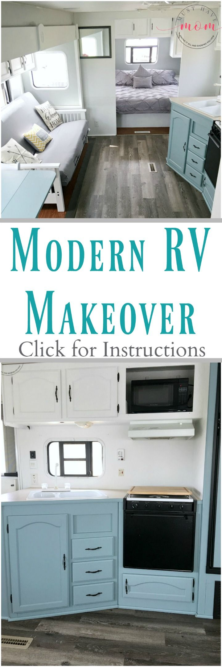 rv cabinets rv kitchen cabinets Easy RV Makeover with instructions to remodel RV interior paint RV walls paint 2