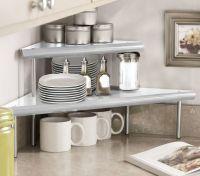 Marimac 2-Tier Kitchen Counter Corner Shelf in Satin ...