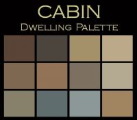 The Cabin Paint Color Palette: warm & cozy. Your own