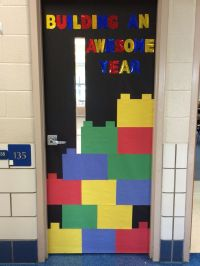 Lego theme classroom door | Bulletin boards | Pinterest ...