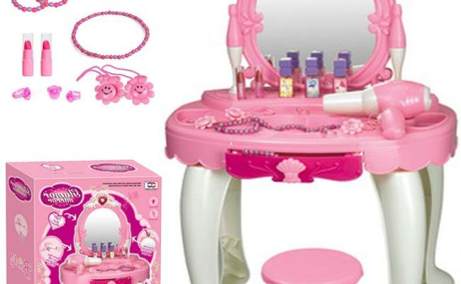 Details About Kids Girls Glamour Mirror Dressing Table
