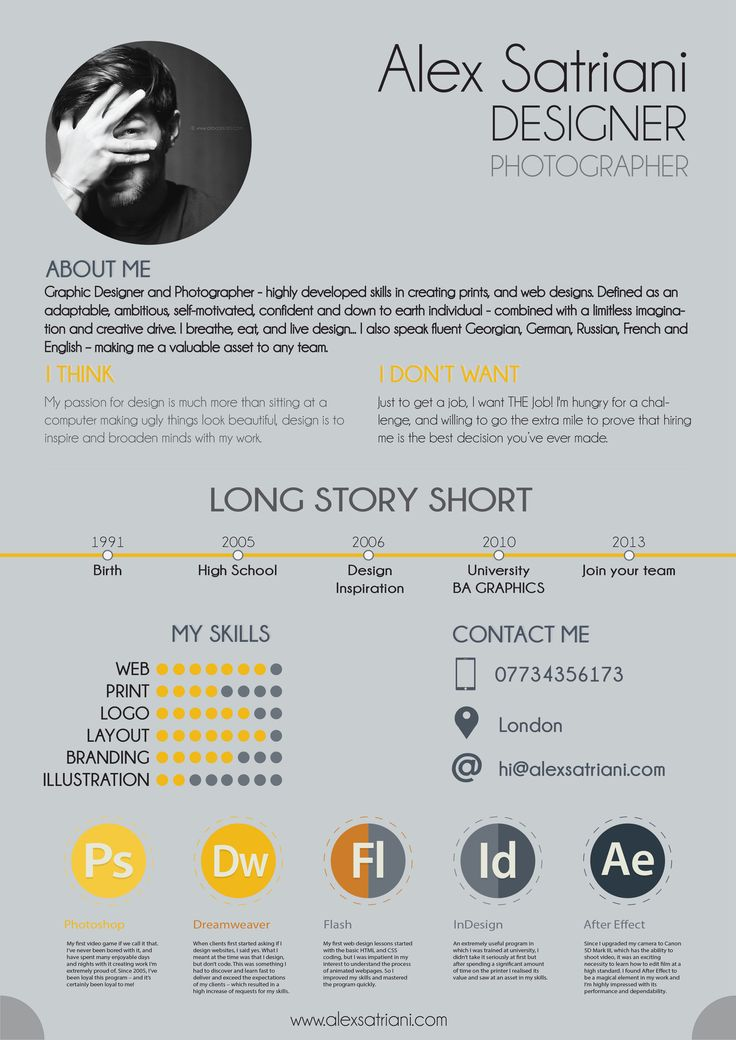 cv design ideas
