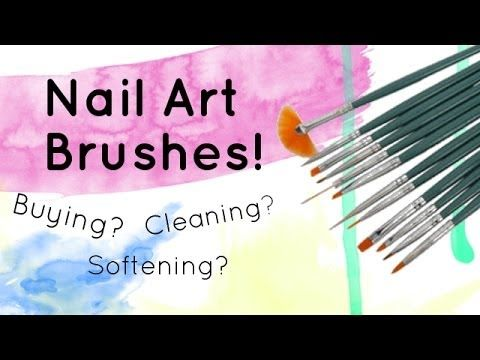 Nail Art Brushes How To Clean Where To Buy How To Cut