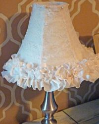 Add a feminine touch to boring shades | Lace lampshade ...