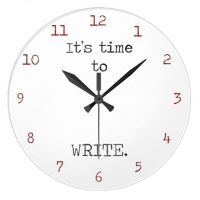 It's Time to Write Large Clock | Creative office space ...
