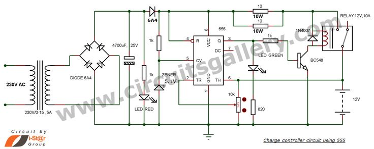 12 volt battery charger circuit