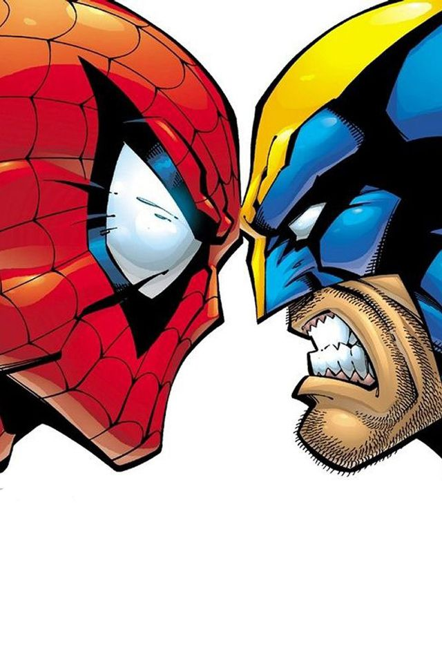 Iphone X Nerdy Wallpapers Spider Man And Wolverine Face Off Back In The Day