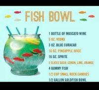 Fish bowl drink | Drink Me. | Pinterest | Fish bowl drinks ...