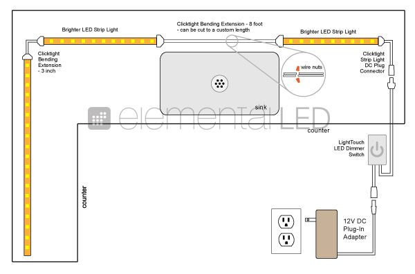 kitchen under cabinet lighting wiring diagram example electrical rh tushtoys com