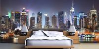 New York Wallpaper Murals Decor on Bedroom Ideas | Theme ...