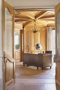 A Crate & Barrel chair pairs with a Restoration Hardware ...