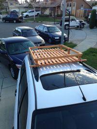 Built this wood roof rack for 50 bucks!   Wooden roof rack ...