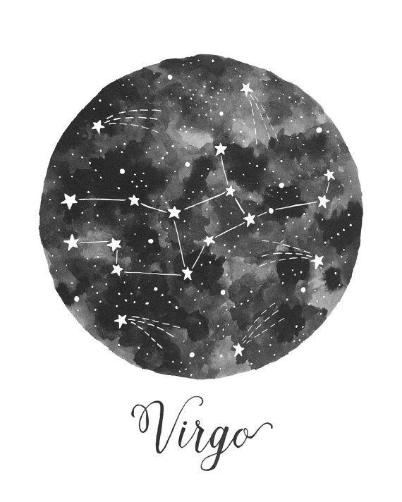 Pisces Wallpaper Quotes Virgo Constellation Illustration Vertical Print On