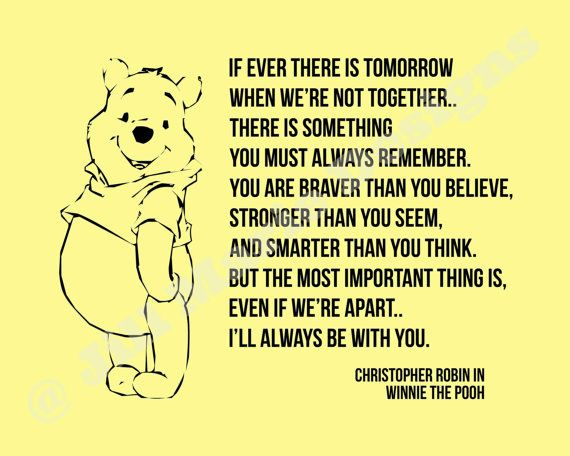 Mom You Are Braver Than You Believe Quote Wallpaper Winnie The Pooh Quot If Ever Quot Quote Home Or Nursery Decor