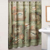 Fishing Theme shower curtain for guest bath? | Cabin ...