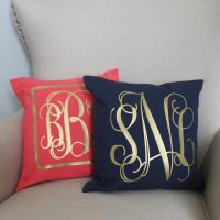 25+ best ideas about Monogram Pillows on Pinterest