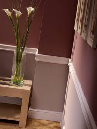 Chair Rail Paint Idea - WINE COLOR on the bottom in a fau ...