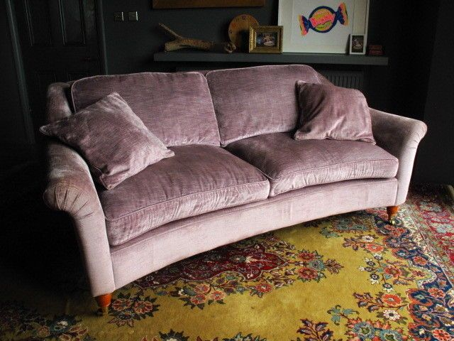 Laura Ashley Sofa Pink Laura Ashley Velvet 'reigate' Sofa Plush Curved & Elegant
