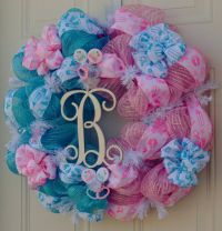 Baby Gender Reveal Wreath Baby Shower by ...