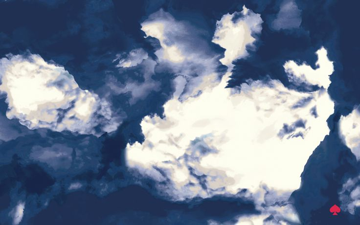 Design Love Fest Fall Wallpaper Navy Blue White Clouds Kate Spade Desktop Wallpaper