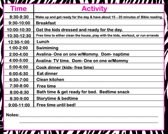 stay at home daily schedule template - 28 images - 9 best images - daily routine chart template