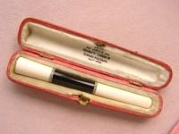 Antique art deco diamond onyx 18k gold cigarette holder ...