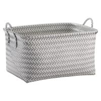 Large Woven Rectangular Storage Basket - Gray and White ...