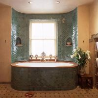 You could inset a bath like this into the straw bales of a ...